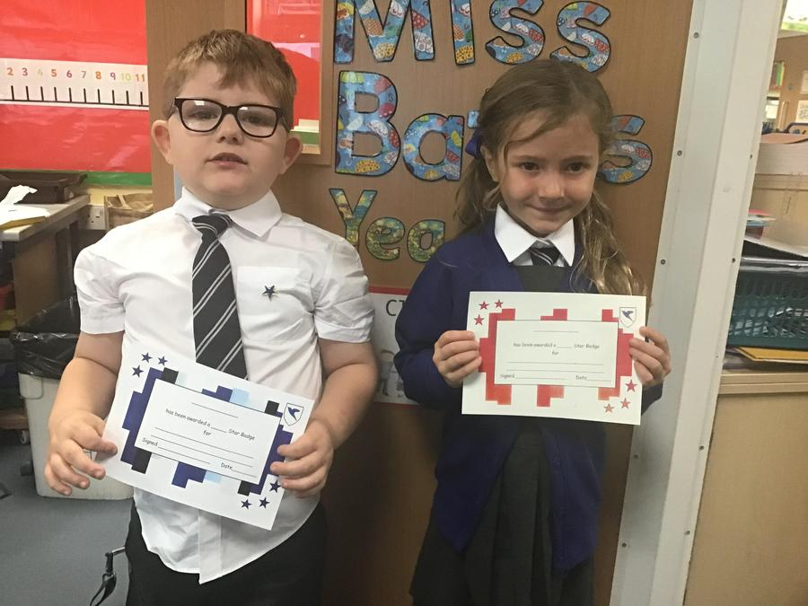 Our star badge recipients  this week.
