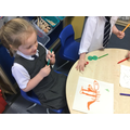 We drew fossils.