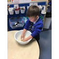 We had to rub the flour and butter together.