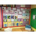 English working wall and British Values display board.