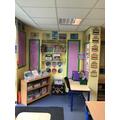 Reading Corner and Mrs. Buckley.s desk.
