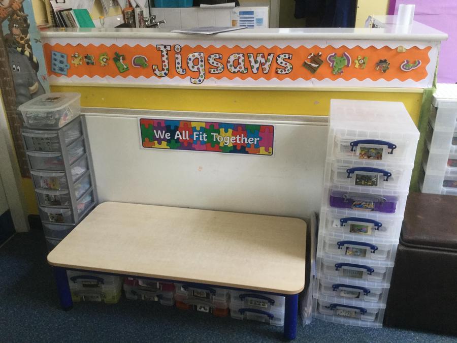 We have lots of jigsaws in Nursery.