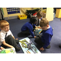 We read lots of fiction and non-fiction books.