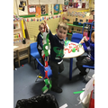 We made paper chains.