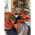 We can read on our own in a very comfy place!