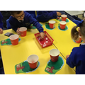 We did some apple counting and matching of numbers