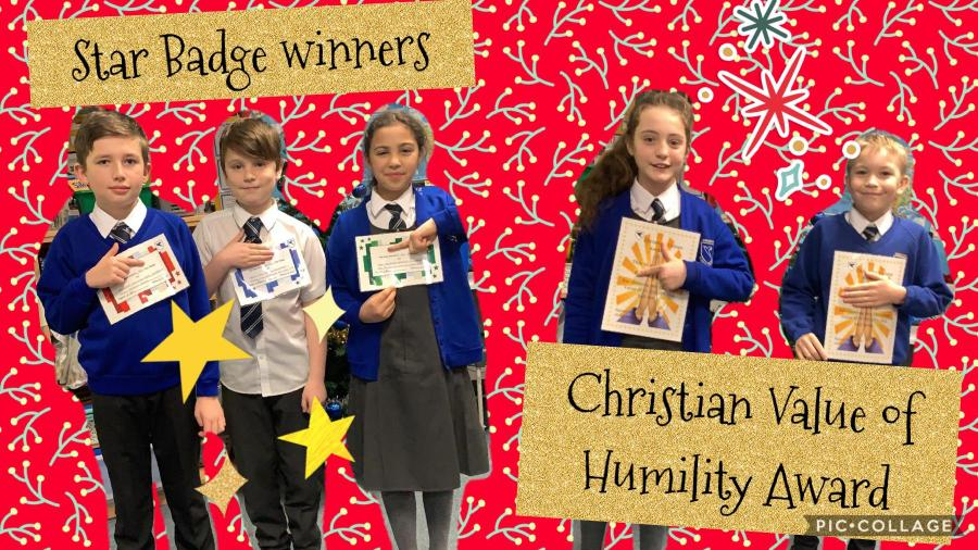 Christian Value of Humility winners and Star Badge Winner