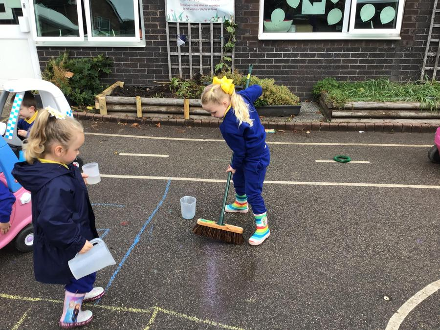 Sweeping puddles away
