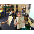 We read Funny Bones and made skeletons.
