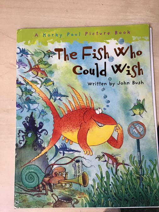 We read this book and then made our own wishes on fishes.