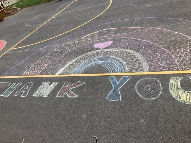 Playground Rainbow created by the children.