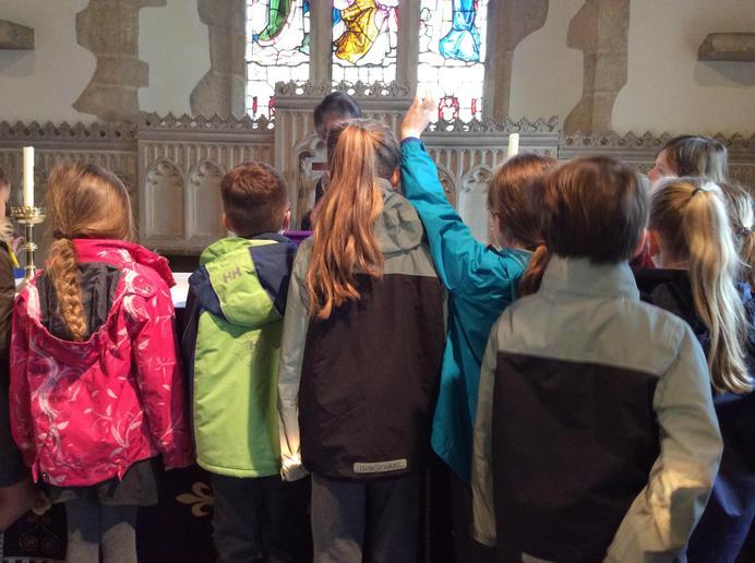 Prayer and Church Visit
