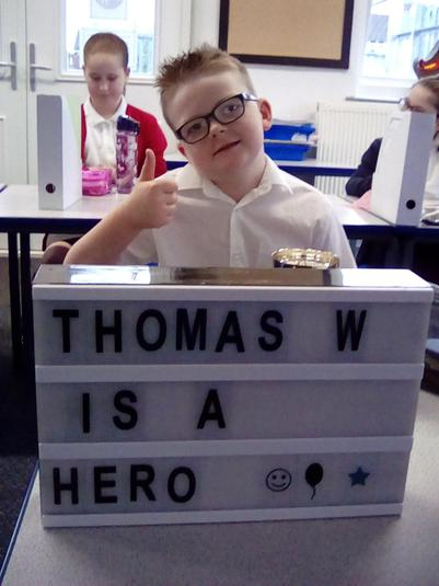 Thomas has settled in beautifully - he's our first Class Person!