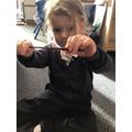 Daisy found 1 wiggly worm