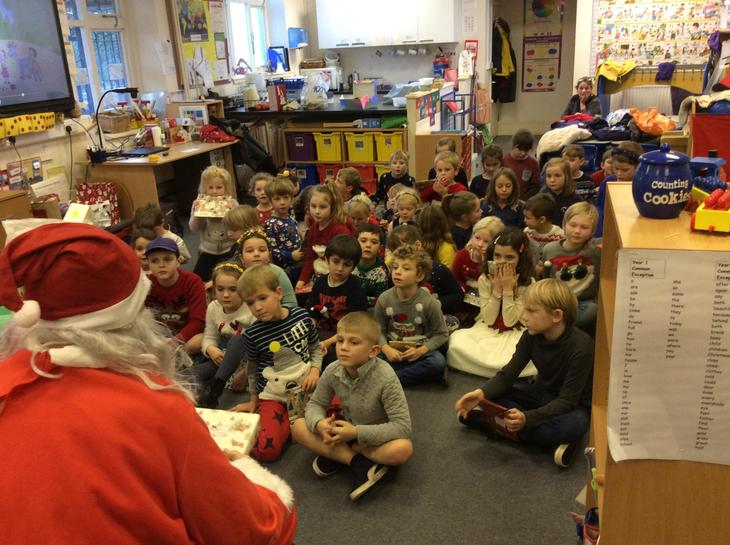 A visit from Father Christmas.