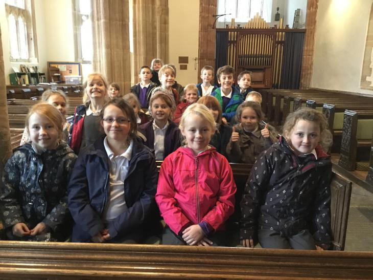 Congregation in Crowcombe church