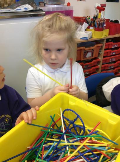 Construction using straws.