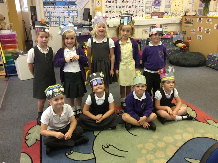 Year one made crowns for our history topic.