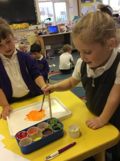 Mixing paint. What colour can I make?