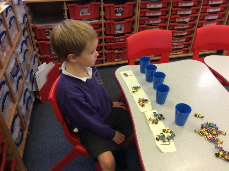 Reception matching number of objects.