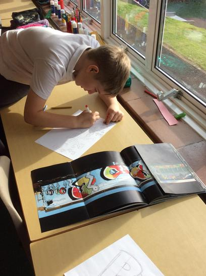 Studying a Graffiti artist's book