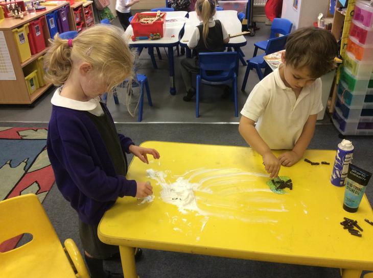 Writing in shaving foam.