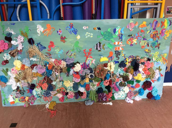 We made an undersea picture during a wow day.