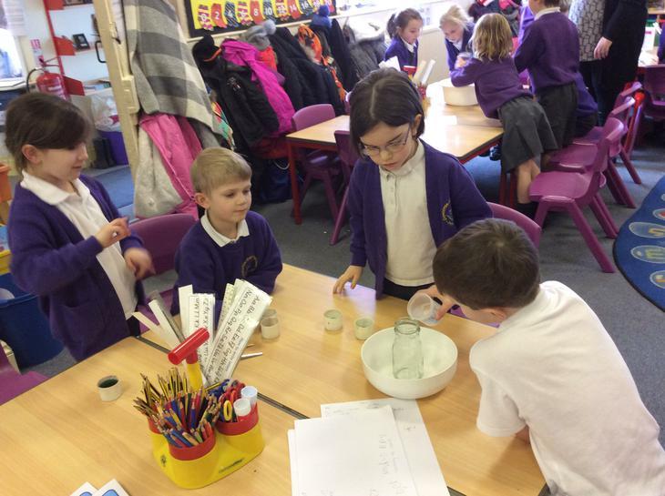 Making a potion.