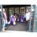 Children and staff embracing the Purple!