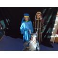 Mary and Joseph travelled to Bethlehem.