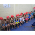 We learnt how to stay safe at the pool.