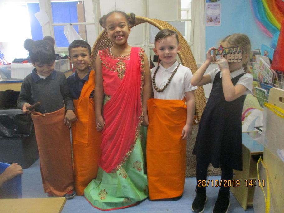 """Our Diwali actors!"" Well done."