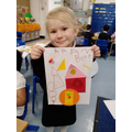 """I made a picture using shapes."""