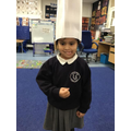 After watching Mohammed being a chef the children made their own chef hats.