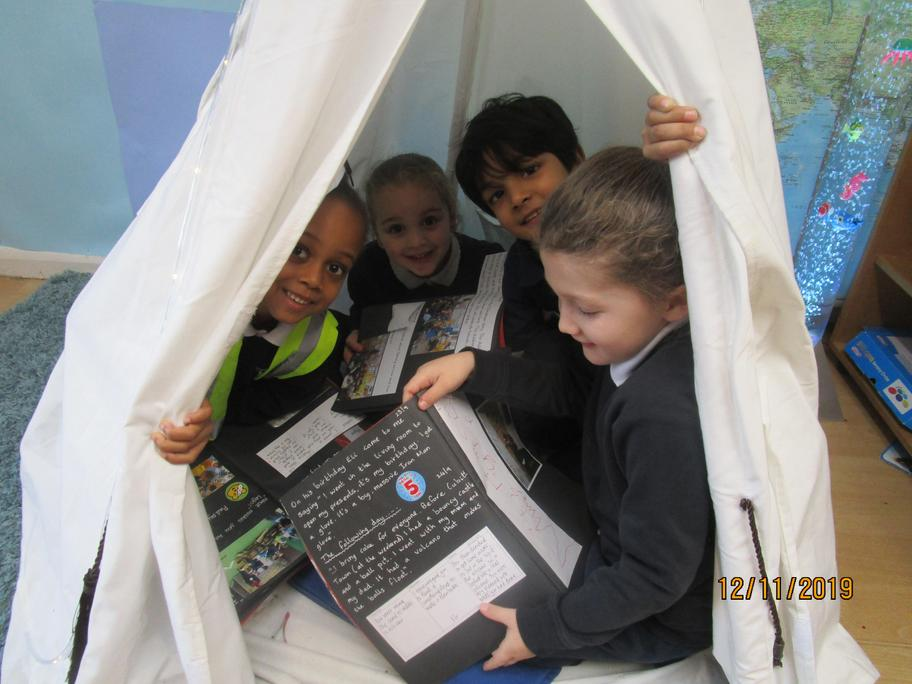 We now have a reading tent!