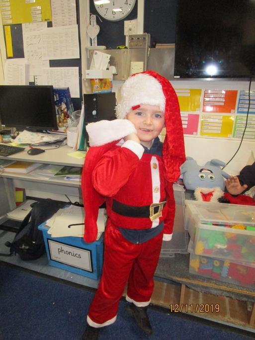 Santa in action!