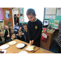 Weighing and measuring ingredients