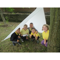 Den building for an outdoor nature project