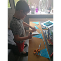 Making VE Day bunting