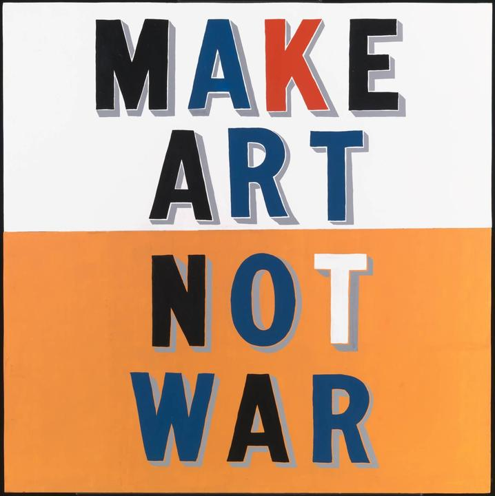 Bob and Roberta Smith Make Art Not War 1997