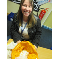 Mrs Livesey making ice cream!