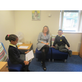 Interviewing Mrs Sherry during Reading Week