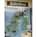 Tracking Gerda's journey on a map of Scandinavia