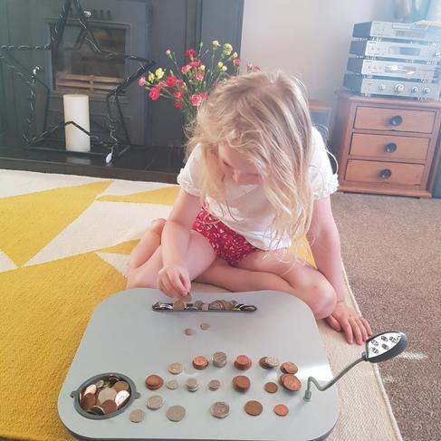 India is counting her coins.