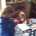 Year 1 designed and painted a plant pot