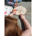 Creating a salt dough decoration