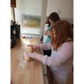 Creating a salt dough decoration