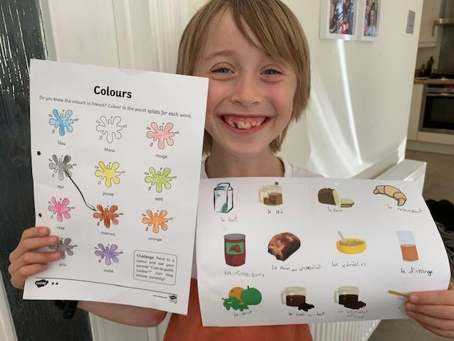 Jake has been learning French food names!