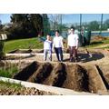 Planting potatoes!