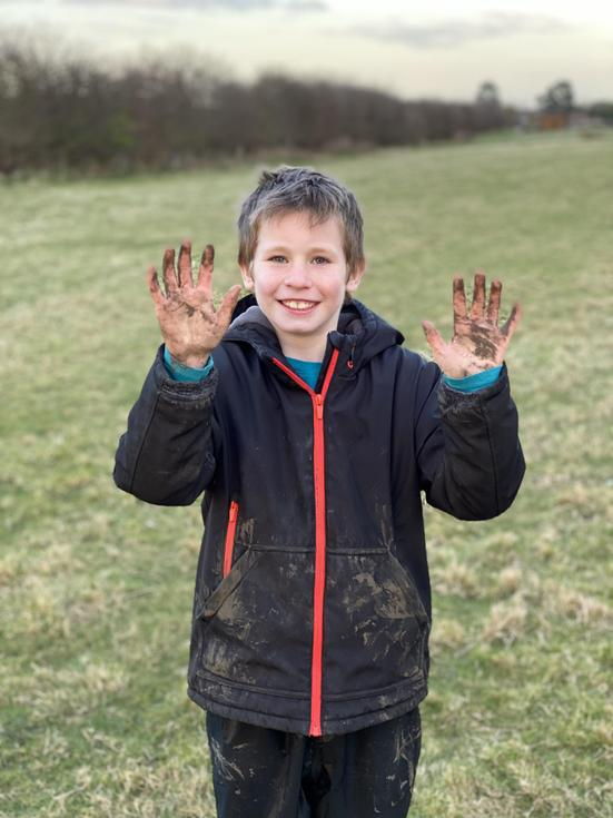 Getting your hands dirty is all part of farming life.